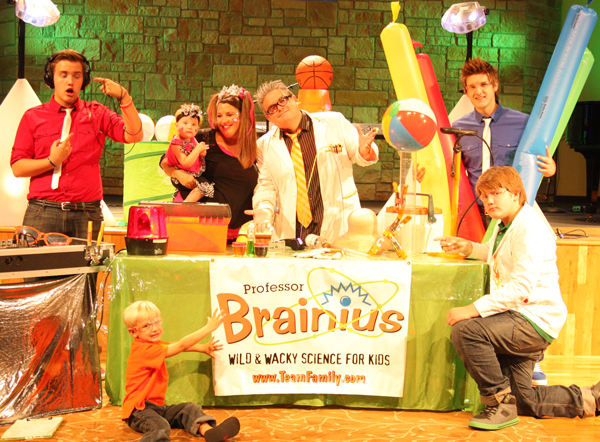 Team Family presents The Professor Brainius Show - Wild and Wacky Science Assemblies